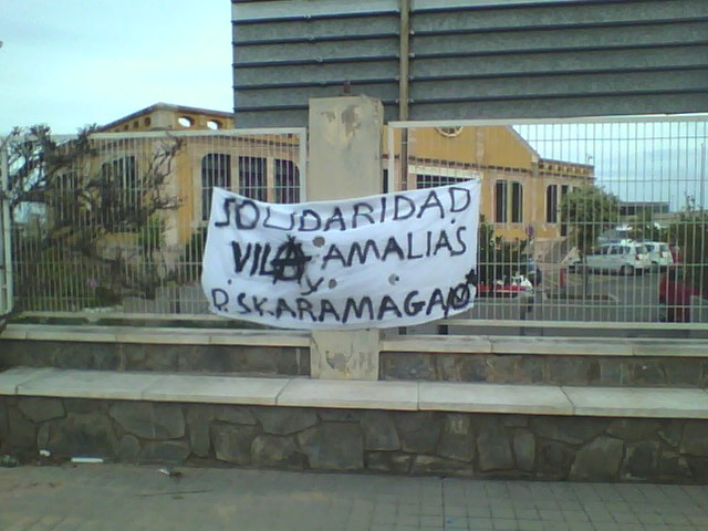 Solidaridad con las okupas Villa Amalias y Skaramaga