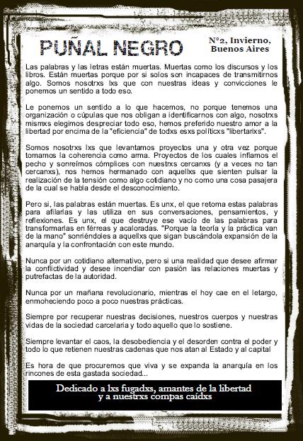 """Pincha aquí para leer descargar la segunda edición de la publicación """"Puñal  Negro"""". 598674dd6021"""